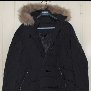Polo XXL Black Fur Hood oversized Jacket